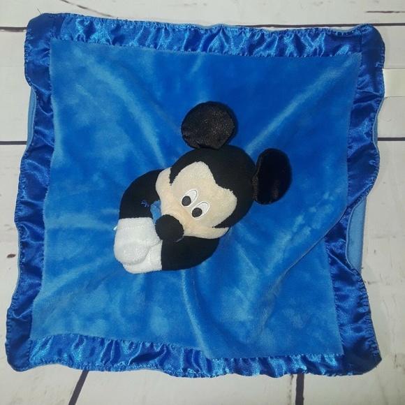Disney Bedding Baby Blue Mickey Mouse Security Blanket Rat Poshmark